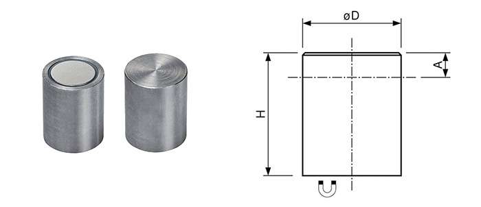 NdFeB Deep pot holding magnet Bi-pole
