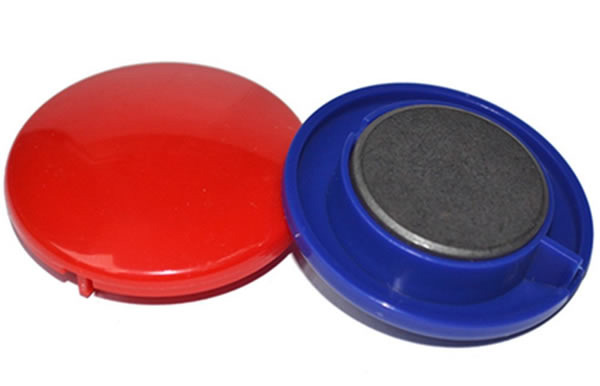 Round Plastic Coated Magnetic Button