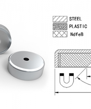 Neodymium Pot Magnet with Countersink