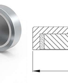 Neodymium Pot Magnet Flat