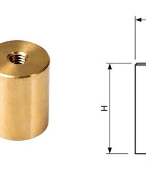 Neodymium Bi-Pole Magnets with Internal thread