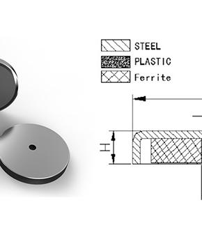 Ferrite Round Base Magnet with Borehole