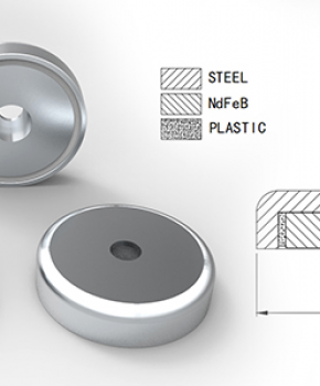 Neodymium Pot Magnet with Through Hole