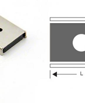 Countersunk Ferrite Channel Magnets