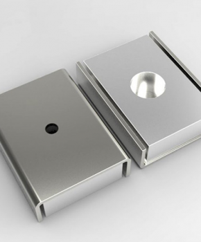 U-Channel Magnet With Countersunk Holes