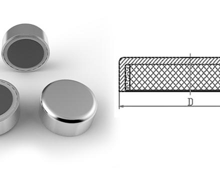 Ferrite Pot Magnet Flat