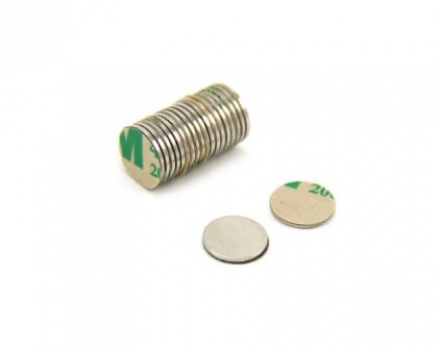 Self Adhesive Disc Magnet with 3M Tape